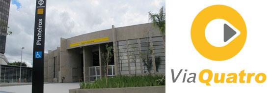 Estação Pinheiros do Metrô - Linha 4 Amarela